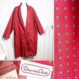 VTG Oscar De La Renta Kimono Robe / Red Robe